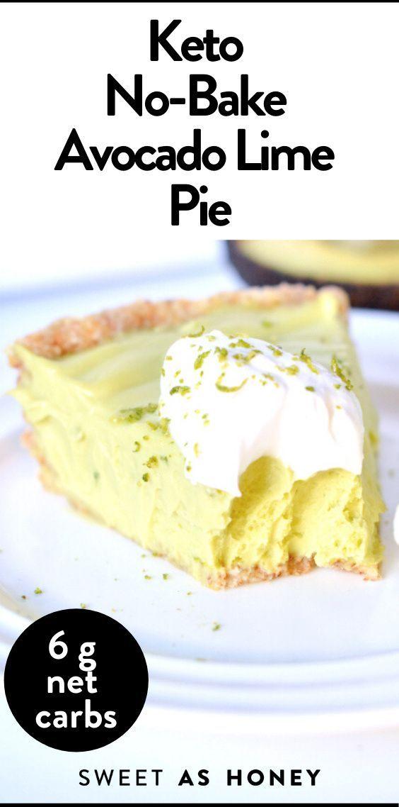 Keto Avocado Key Lime Pie Vegan Paleo Keto Sweetashoney In 2020 Lime Pie Baked Avocado Key Lime Pie