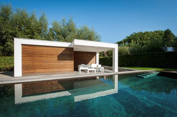 modern pool house - Google-Suche Architecture Pinterest - pool mit glaswand garten