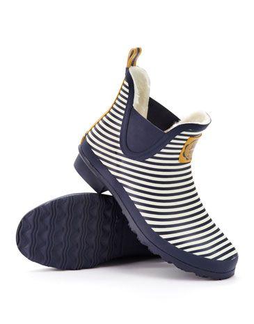 Joules null Womens Short Rain Boots Navstrp. Classic practical