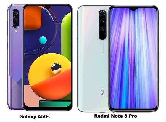 Samsung Galaxy A50s Vs Xiaomi Redmi Note 8 Pro Specs Comparison Samsung Galaxy Galaxy Samsung