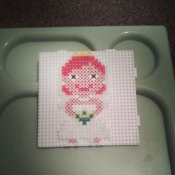Bride hama beads by rebekahc78