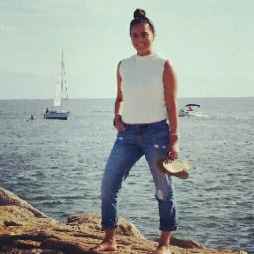 Zara top & boyfriend jeans