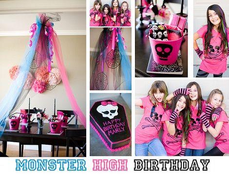 Decoración de cumpleaños de Monster High
