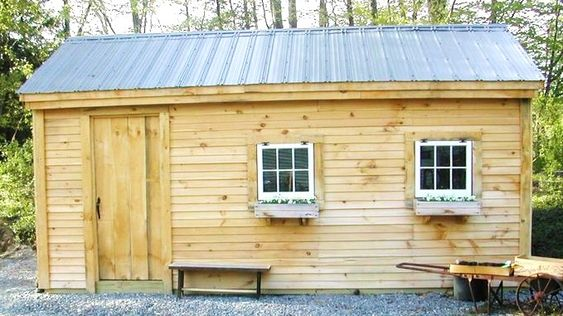 12x20 Garage Example Shows Optional Horizontal Pine