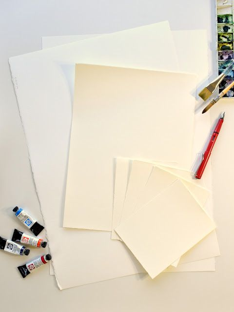 Fabriano Watercolour Paper Full Sheets Torn To Required Sizes