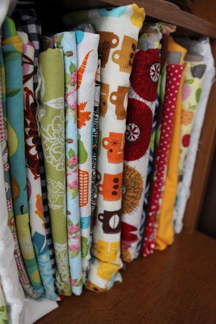 Fabric bolts from cereal boxes