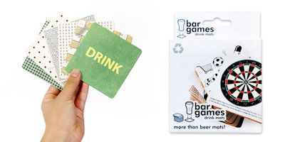 Bar Games Beer Mats : Assorted beer coasters with games & puzzles @Suck UK