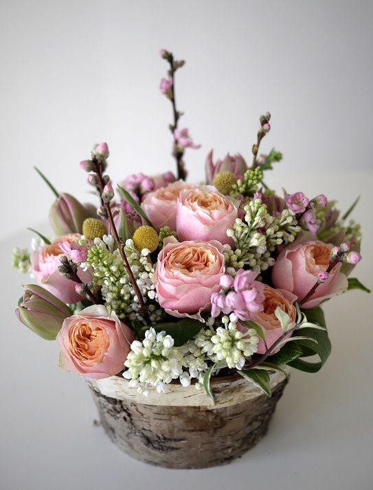 rose, tulipe, lilas, fleurs de pecher,
