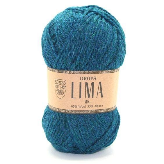 Drops Lima Mix -       Naalddikte: 4     Gewicht: 50 gr.     Lengte: 92 m     Proeflapje 10x10cm: 21 steken x 28 naalden     Samenstelling: 65% Wol, 35% Alpaca