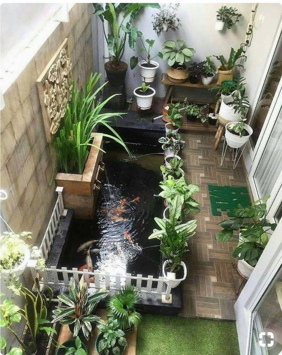 16 ไอเด ย การออกแบบ บ อเล ยงปลา สวนน ำ ข างบ าน ร มกำแพง Ihome108 Phong Khach Tối Giản Cuộc Sống Ngoai Trời Ngoai Trời