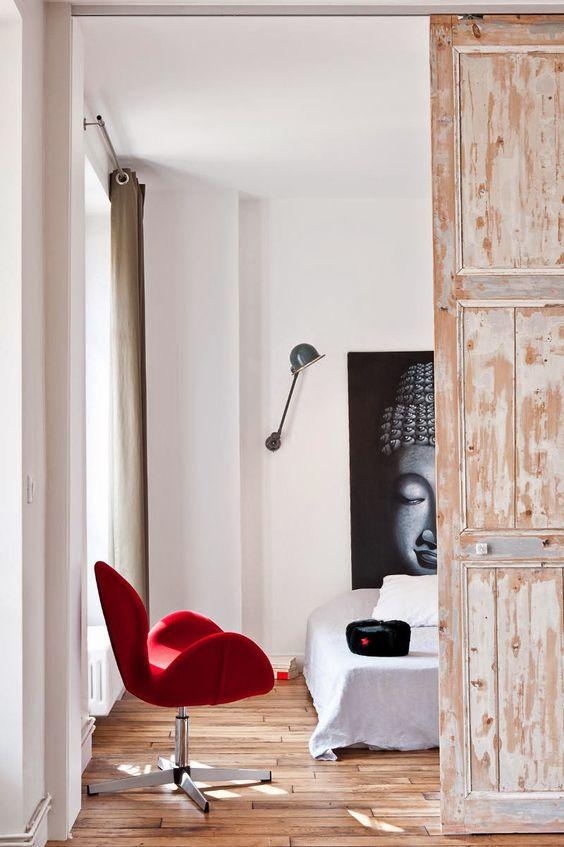 Skydedør i indretningen #skydedør #dekoration #bolig #ideer #dør ...
