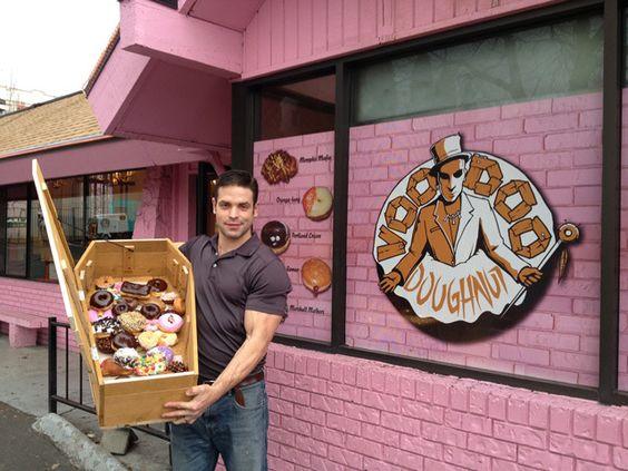 Man Eats a Coffin Full of Voodoo Doughnuts