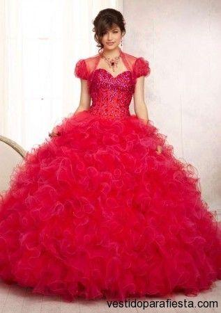Vestidos de xv años color rojo moda 2014 http//vestidoparafiesta.com/