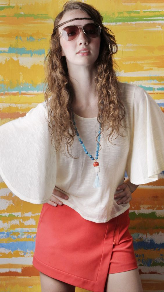 Stone tassel necklace by Hazen Jewelry available at adelé www.adelelexington.com