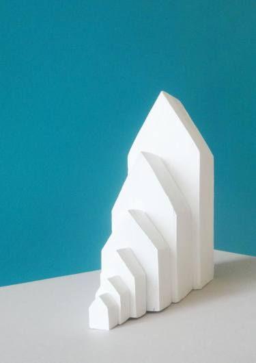 "Saatchi arte artista David kukhalashvili;  Escultura #art, ""House"""