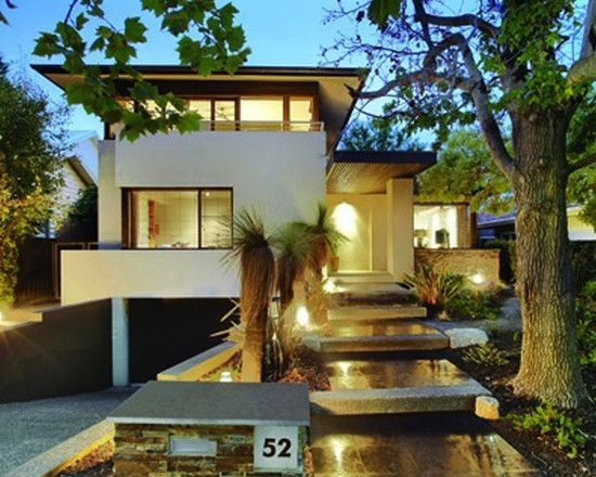 Image Result For Modern Homes Garage Underneath Sydney Modern House Exterior Modern Style House Plans House Exterior