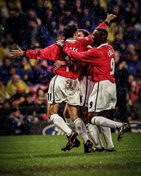 Manchester United 6 2 Brondby In The 98 99 Preliminary Round European League Manchester United Football Club Manchester United Football Manchester United