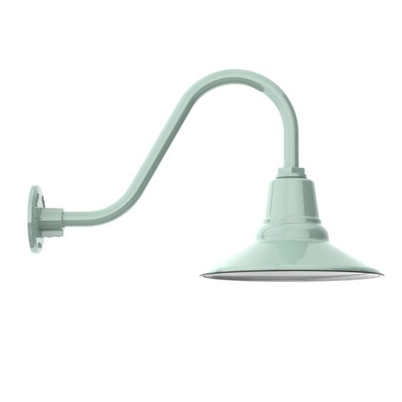 aero porcelain gooseneck light via barn light electric company