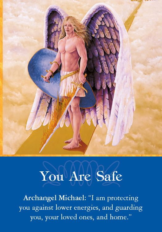 Oracle Card You Are Safe | Doreen Virtue | official Angel Therapy Web site:
