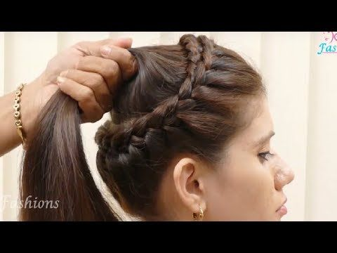 Easy Wedding Updo With Braids Bridal Hairstyle For Long Hair Tutorial Youtube Long Hair Girl Easy Hairstyles Cool Hairstyles