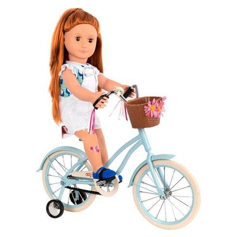 Our Generation Anywhere You Cruise 18 Doll Bicycle Blue Og Dolls Our Generation Dolls Our Generation Doll Accessories