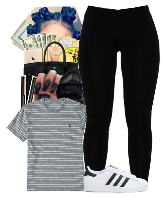 """2"" by princessjolie ❤ liked on Polyvore featuring Puma, Ralph Lauren and adidas"