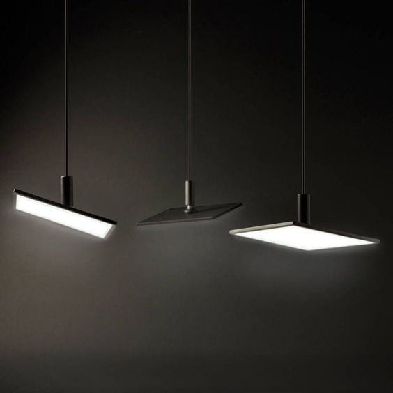 Adjust Solo S - OLED pendant lamp by Bernd Unrecht lights. 1 OLED panel with total flux of 150lm.