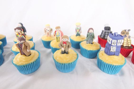 These cupcakes are so cool! There perfect for the Doctor Who 50th Anniversary