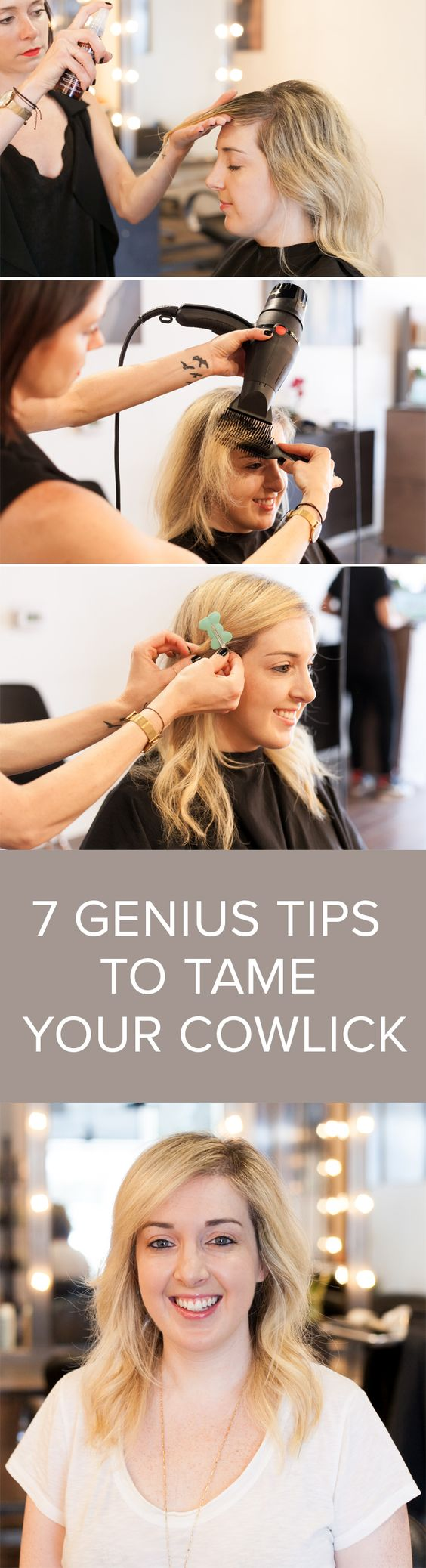 how to create a cowlick