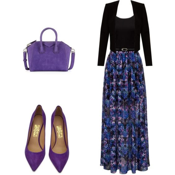 Pretty in purple This is beautiful.   I'd want the neckline to be higher though.