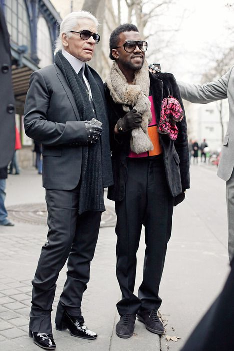 Karl Lagerfeld and Kanye West