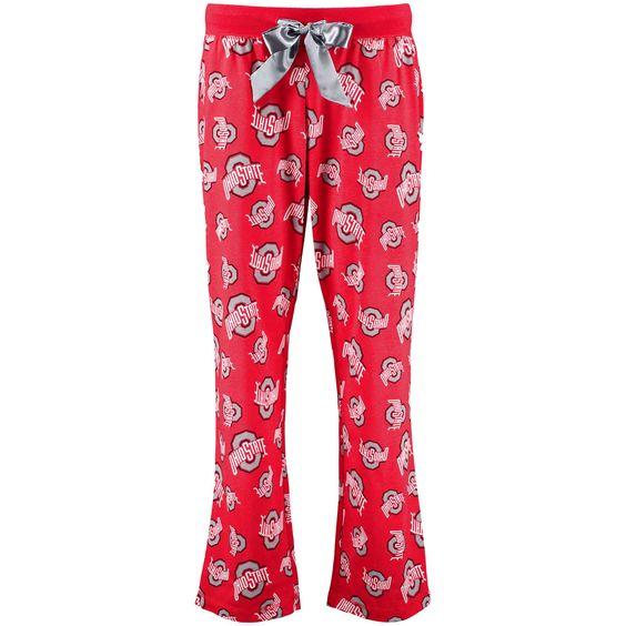 Ohio State Buckeyes Women's Sunday Funday Sleep Pajama Pants - Scarlet - $31.99