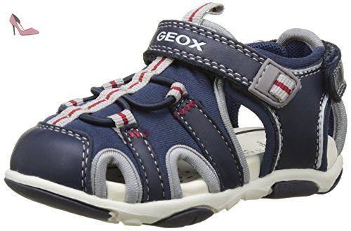 B Kiwi Boy G, Chaussures Marche Bébé Garçon, Bleu (Navy/GREYC0661), 26 EUGeox