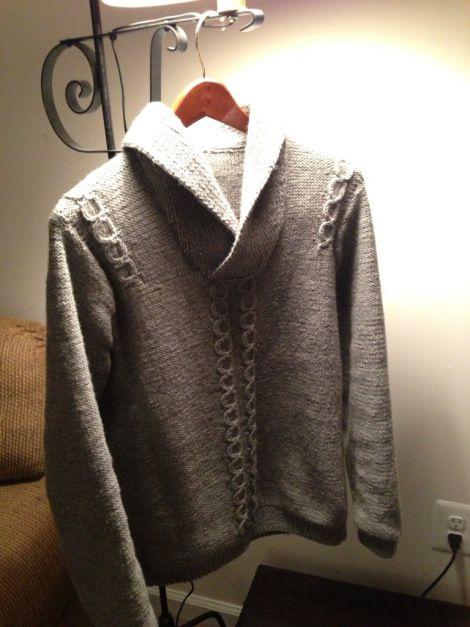 "Irish collared men's pullover : free ""vintage"" 1980s https://fibreandspice.wordpress.com/2013/02/21/irish-collared-mens-pullover/"