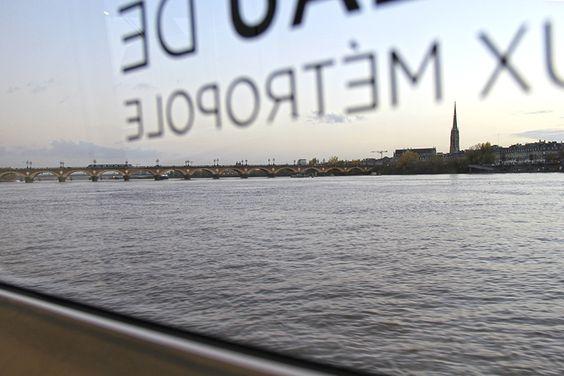 Вид из окна речного трамвая