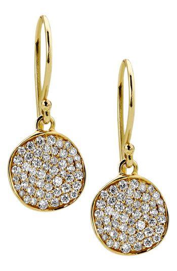 Ippolita 'Stardust - Mini Flower' 18k Gold Drop Earrings