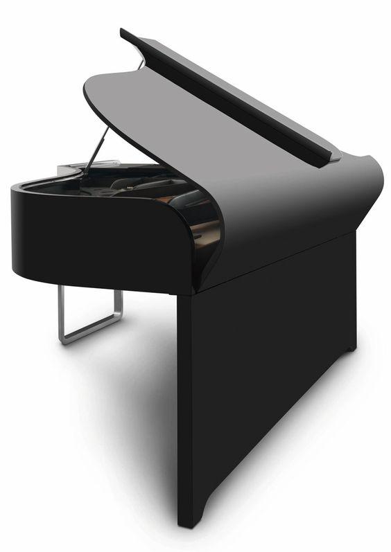 ♂ Minimalist black Audi Design Grand Piano