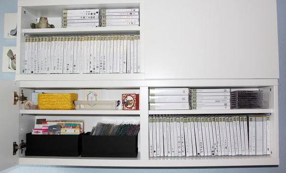 Bastelzimmer, Aufbewahrung Stempel DVD und CD Hüllen