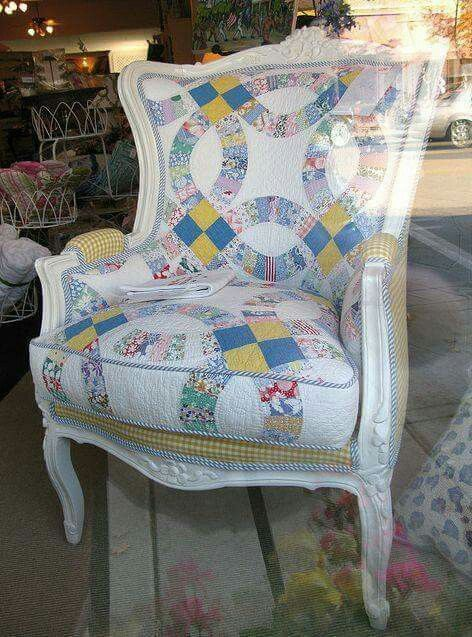 Something to do with those old quilts that have stains or tears and can't be used on the bed!