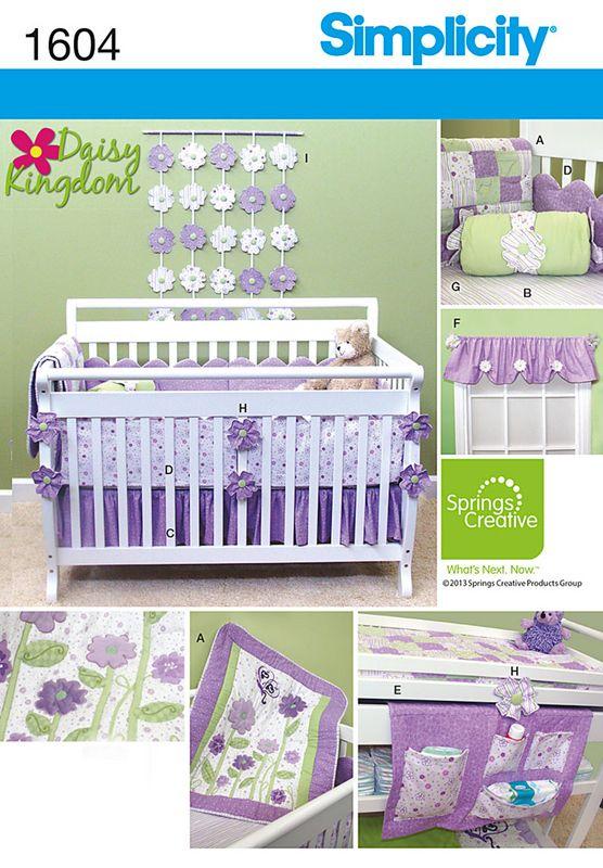 Baby Patterns - Simplicity Daisy Kingdom Nursery Accessories Pattern
