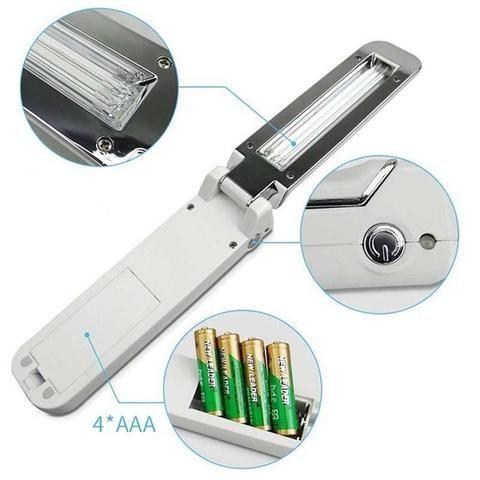 مصباح تطهير الأشعة فوق البنفسجية قابل للطي باليد Disinfect Handheld Ultra Violet