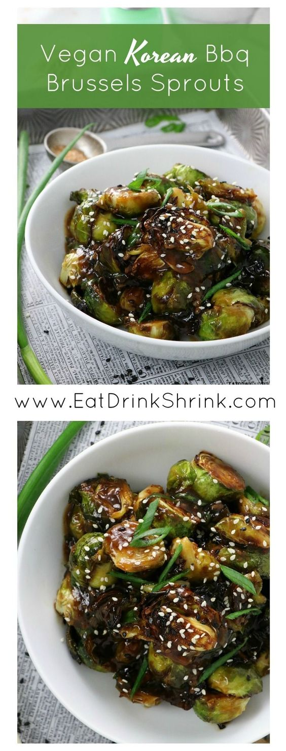 Vegan Korean Bbq Brussles Sprouts