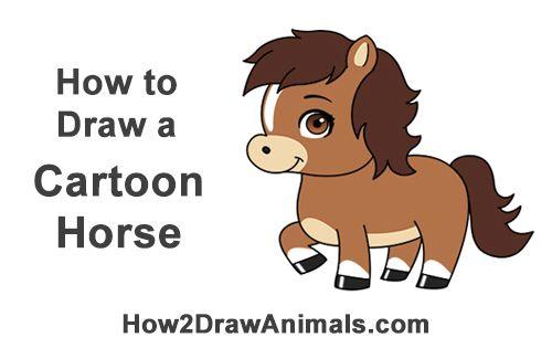 How To Draw A Cute Cartoon Horse By How2drawanimals Horse Animalart Cartoonillustration Drawing Horse Cartoon Horse Cartoon Drawing Cartoon Birds
