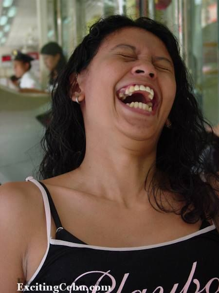 Jessie laughing at Jollibee.