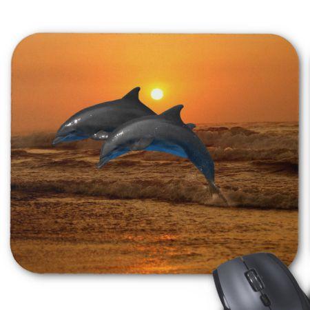 Dolphin love mousepad