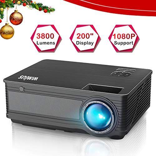 Best Projector Under 200 Wimius P18 3800 Lumens Led Projector Best Projector Projector Projector Reviews