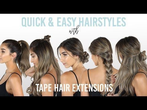 How To Style Hair Extensions 8 Tips And Tutorials We Love In 2020 Tape In Hair Extensions Easy Hairstyles Long Hair Extensions