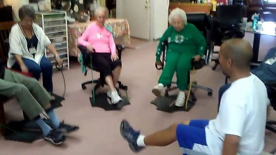 One big happy group here in our fun circle getting activity using the Club EFIT mobile personal training exerciser at North End Adult Daycare Center. www.mobilefitnesssystemscs.com