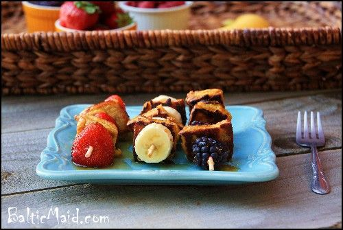 toast and fruit kababs | FOOD | Pinterest | French Toast, Kebabs ...