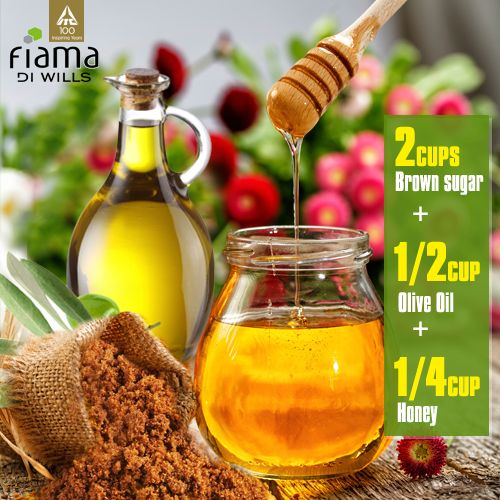 The perfect body scrub recipe for soft & wonderful skin. Wash it off with Fiama Di Wills Gel Bathing Bar for a truly unique experience.